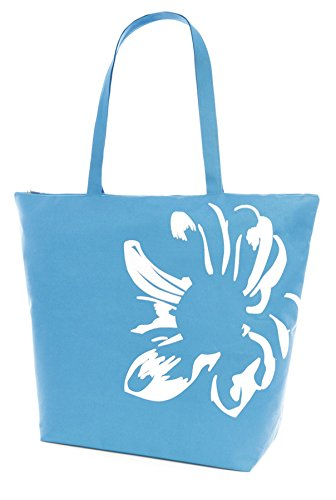Blue Bag print Tote Floral Blue Black Beach GIRLS Summer LADIES Sunflower Pink XqPBwOP