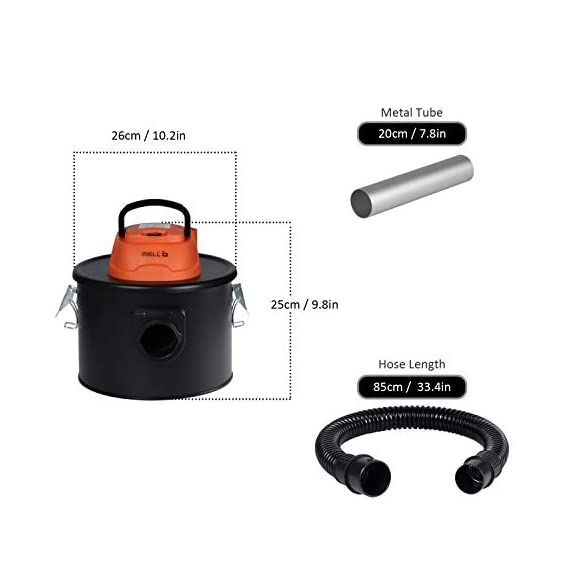 iBELL 0812WB 1200Watt 8 Litre Quick Clean Vacuum Cleaner with HEPA Filter. Compact, Powerful & Handy for Furniture/Curtains/Windows/Sofas/Cars, Black 5
