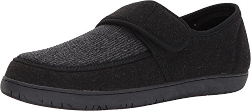 Foamtreads Mens Morgan FT Slipper, Black, Size 9
