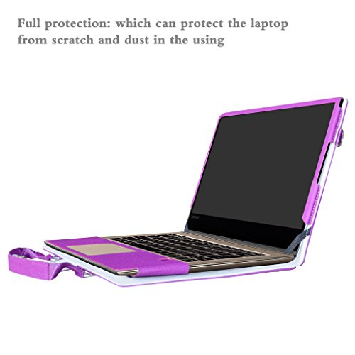 Yoga 910 Funda,2 in 1 Diseñado Especialmente La Funda Protectora de Cuero de PU + la Bolsa portátil para 13.9