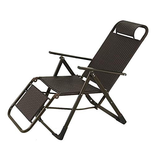 - SACKDERTY Zero Gravity Chair Foldable Rattan Sun Lounger Portable Recliner Chairs Relaxer Steamer Chair Load Capacity 200 kg