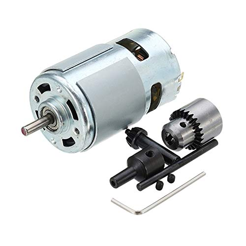 TOOGOO Dc 12-24V 775 Motor Electric Drill with Drill Chuck Dc Motor for Polishing Drilling Cutting