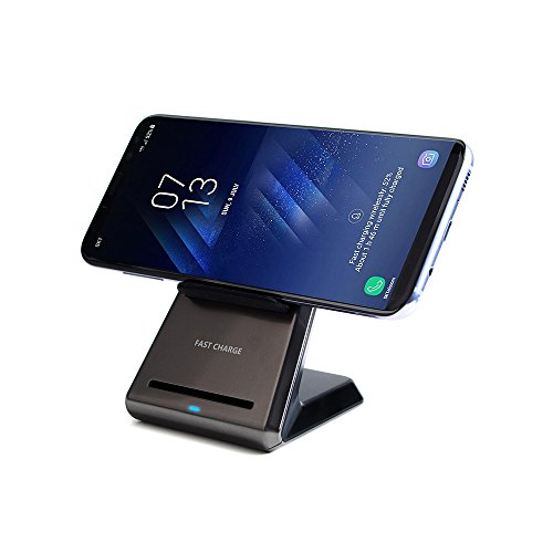 Fast Wireless Charger, Syncwell High Speed QI Wireless Charging Stand dock Pad Quick wireless Charge for iPhone 8, 8+, X, Galaxy S8, S8 plus, S6 Edge +, S7, S7 Edge, Note 8 Note 7 FE, LG V30, G6, G6+