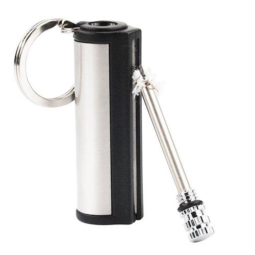 GadgetpoolUK Feuerzeug inépuisable aus Metall Dose für Zündhölzer Schlüsselanhänger