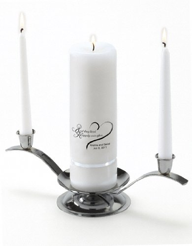 Personalized Unity Wedding Candle - Personalized Wedding Candle - Wedding Gift - Monogrammed Wedding Unity Candle - Happily Ever After JDS GC330 HEA