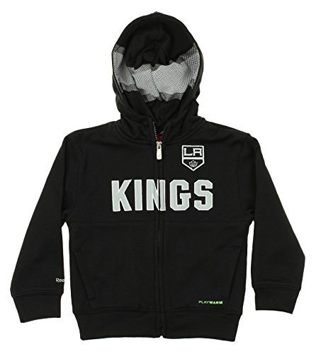Reebok NHL Toddlers Los Angeles Kings Drop Pass Full-Zip Hoodie, Black 2T