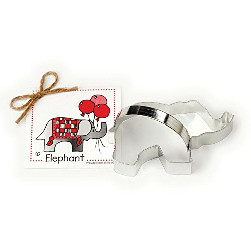 Elephant Cookie and Fondant Cutter - Ann Clark - 5.3 Inches - US Tin Plated Steel]()