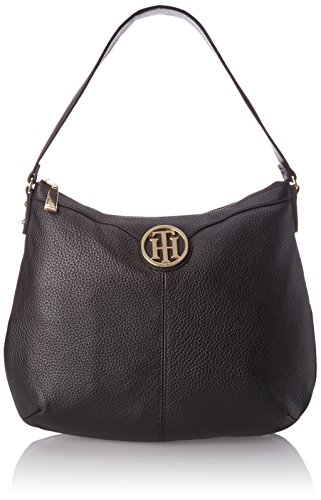 Black Pebble Bag Maggie Hobo Hilfiger Tommy Yzx1X