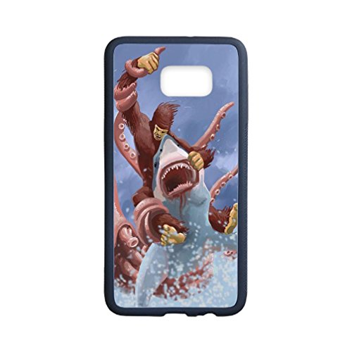 Libby Baldwin New fashion custom Ocean Shark Art Pattern hight quality Laser Technology TPU & Plastic Samsung Galaxy S6 Edge Plus Case