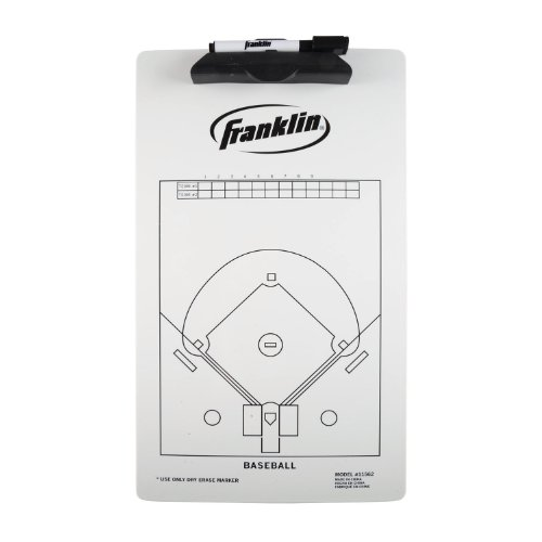 Franklin Sports Baseball Coach Clip Board, 15.75x9-Inch