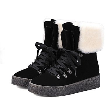 Leather Boots Snow EU39 CN39 Boots Booties Ankle Heel Black US8 Camel For Flat RTRY Nappa Winter UK6 Women's Shoes Boots Fashion Boots Beige Casual 6wgW4tq1S