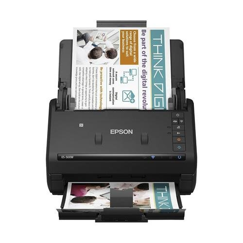 Epson WorkForce ES-500W Wireless Color Duplex Document Scanner for PC and Mac, Auto Document Feeder (ADF) (Certified Refurbished)