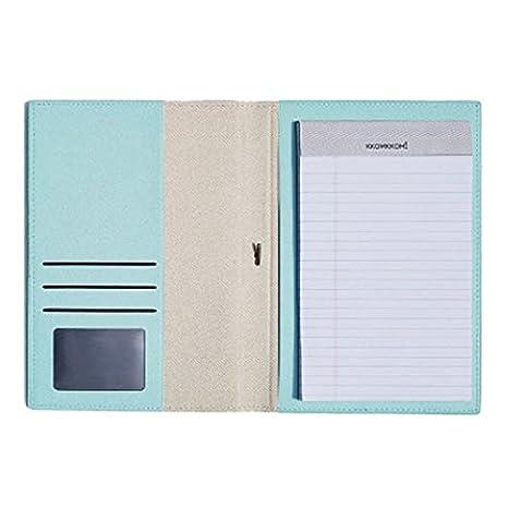 Lovely Cartera portadocumentos de piel sintética, A5 tamaño escritura cartera incluye bloc de notas,