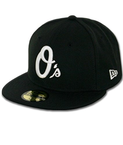 New Era 59Fifty Baltimore Orioles BK WH Fitted Hat (Black/White) Men's Cap