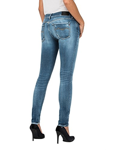 Luz 9 Blue Femme Replay Jeans Skinny Light Bleu dHC08qnx
