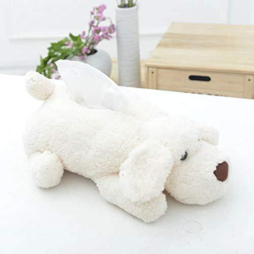 Purefire Tissue Box, Cartoon Animal Tissue Box, Multi-Function Practical car Tissue Box, Cute Dog Doll Plush Tissue Box for Family, car