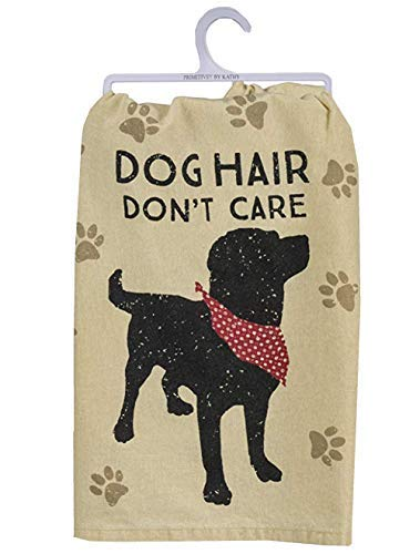 Primitives by Kathy Pet Love Cotton Dish Towel (Dog Hair)