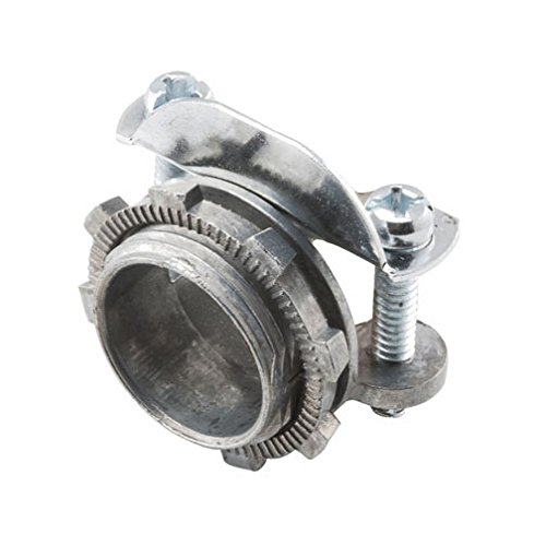 Hubbell-Raco 2854 Hubbell-Raco Connector, Clamp Type For Oval Cable, 1In. Trade Size, Zinc , (Pack of 25)