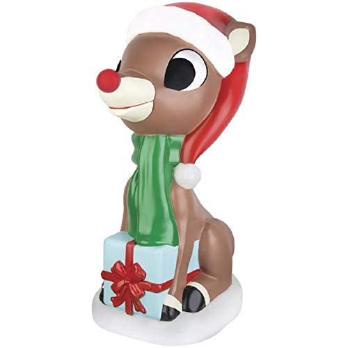 Home Collection Rudolph The Red Nosed Reindeer Blow Mold Outdoor Light Up Christmas Decoration Yard Lawn Garden Sculpture Seasonal Display (Mold Lawn The)
