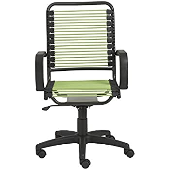 chair with arms. euro style bradley bungie high back adjustable office chair with arms, green bungies graphite arms
