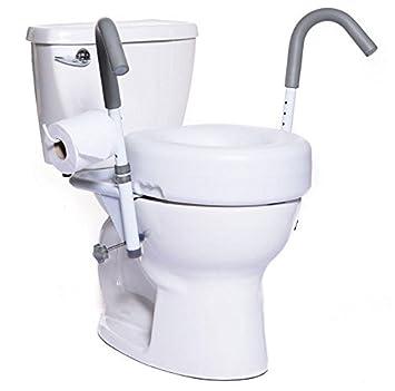 Peachy Amazon Com Mobb New Ultimate 5 Raised Toilet Seat And Machost Co Dining Chair Design Ideas Machostcouk