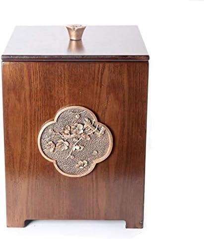 ゴミ袋 ゴミ箱用アクセサリ 中国スタイルのクリエイティブゴミ箱ホームリビングルームの寝室カバーオフィス収納ゴミ紙バスケット8L キッチンゴミ箱 (Color : BrownC)