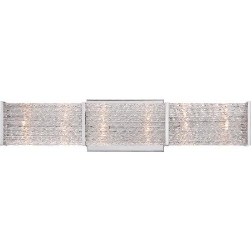 Quoizel PRN8606C Paragon Platinum Bath Bar Vanity Wall Lighting, 6-Light, Xenon 120 Watts, Polished Chrome 5 H x 22 W