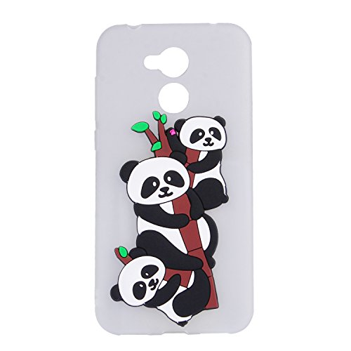 Funda para Huawei Honor 6A , IJIA Puro Rojo Adorable Panda TPU Silicona Suave Cover Tapa Caso Parachoques Carcasa Cubierta Teléfono De Vuelta Shell Case para Huawei Honor 6A (5.0) White