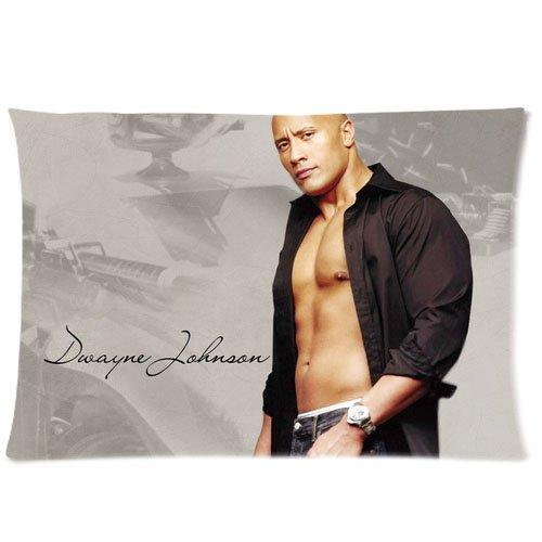 1 X Custom Dwayne Johnson The Rock Pillowcase Standard Size Design Cotton Pillow Case