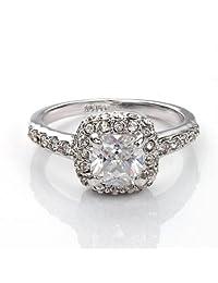 Fashion Plaza Princess Cut Cubic Zirconia Engagement Ring R216