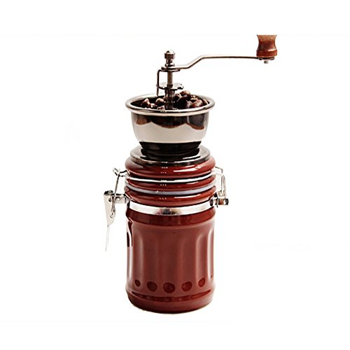 Transer Vintage Ceramic Manual Coffee Beans Mill Nut Spice Hand Grinder Stainless Steel (Coffee)