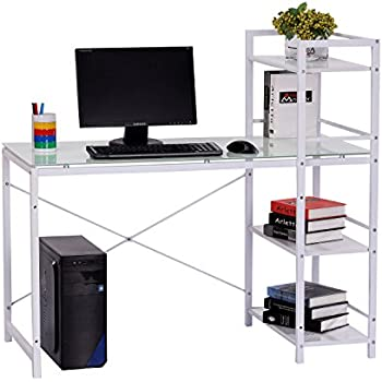 amazon com homestar 2 piece laptop desk   4 shelf Modern Computer Desks for Home Modern Computer Desk Designs