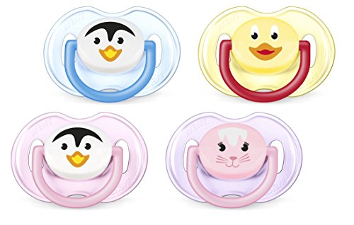 Philips AVENT BPA Free Animal Pacifier, 0-6 Months, Style and Color May Vary, 2-Pack