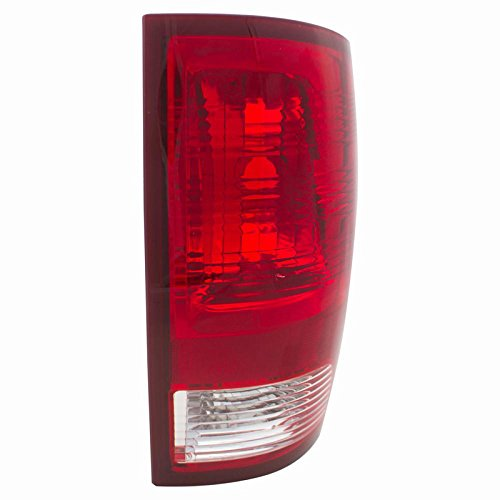 CarPartsDepot 09-12 RAM 1500 Passenger Tail Lamp CH2819124 Red Brake Clear Backup Lens Housing
