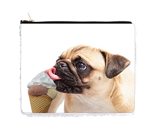 Pug Puppy Dog Licking Ice Cream - 6.5