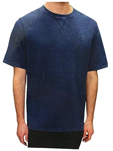 Age of wisdom Mens SS Burn Out T-Shirts (Indigo, Medium) Wisdom T-shirt