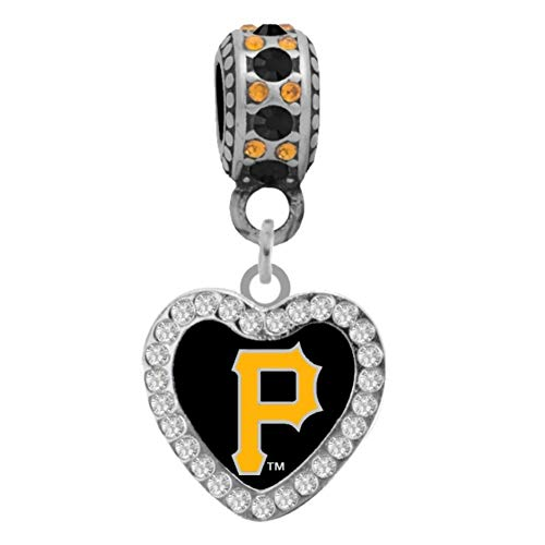 Final Touch Gifts Pittsburgh Pirates Crystal Heart Charm