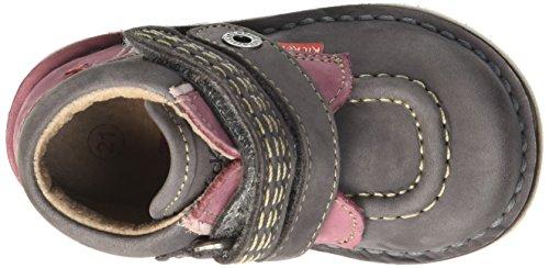 Kickers Wapa - Zapatos de primeros pasos Bebé-Niños Gris