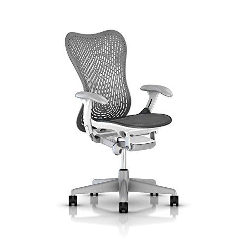 Herman Miller Mirra 2 Chair: Std Tilt - Fixed Arms - Hard Ca