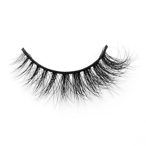 Mink Eyelashes Strip Soft Criss Cross Long Faux Mink Lashes Luxury False Eyelashes Party for Women by EYEMEI