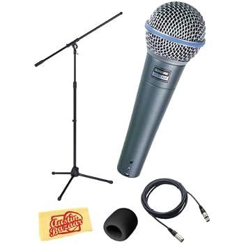Amazon Com Shure Beta Supercardioid Dynamic Microphone Bundle