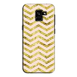 Cover It Up - Gold Pink Tri Stripes Galaxy A5 2018 Hard case