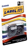 Casio XR-18X2S 18mm Labelling Tape (Black on Clear)