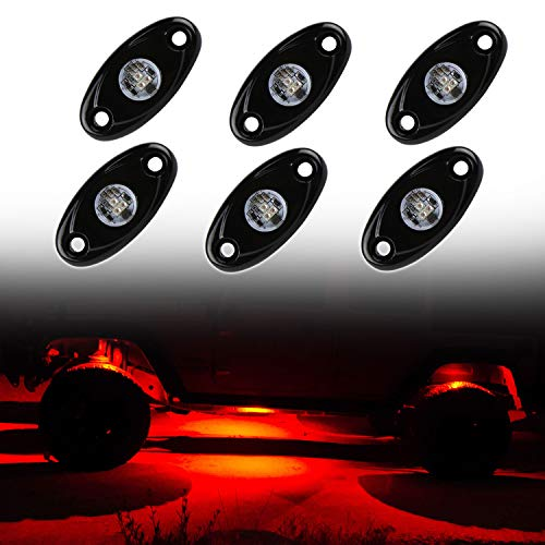 Jeep Rock Lights 9W 2inch Cree LED Red Rock Lights for ATV Jeep Truck SUV Motorcycle Driving Under Glow Light Kits