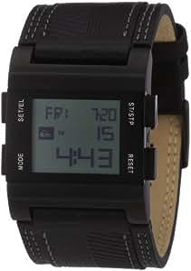 Quiksilver M029AL 2T ABK - Reloj digital de caballero de cuarzo con correa de piel azul