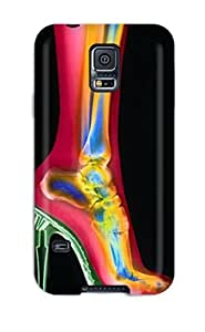 Rugged Skin Case Cover For Galaxy S5- Eco-friendly Packaging(x-ray High Heel)