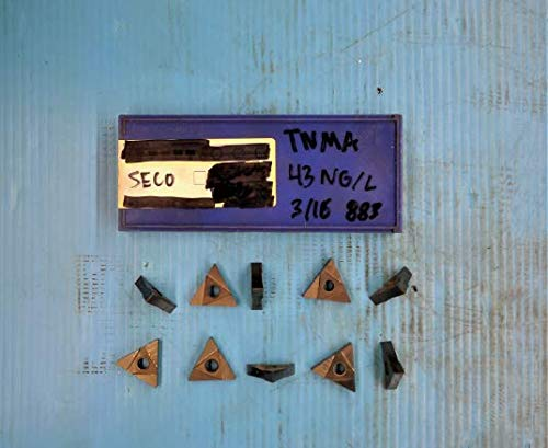 10PCS New SECO TNMA 43 NG/L 3/16 Wide Carbide Grooving Insert .1875 883 ()