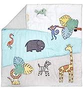 "aden + anais Baby Bonding Playmat – Reversible 45"" x 45"" Cotton Muslin Infant Mat – Foldable Play..."