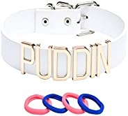 KESOCORAY Quinn Choker Plus Halloween Costume Adjustable Punk Puddin Necklace with Red Blue Hair Ties for Girl