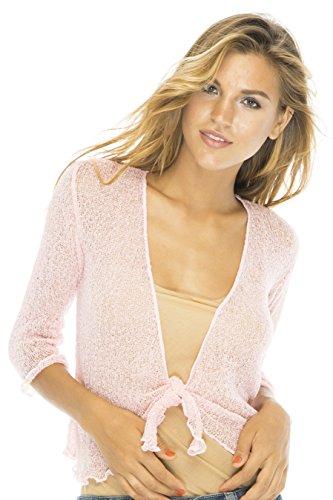 Shrug Lite Sheer Pink (Pink Ladies Jacket Plus Size)